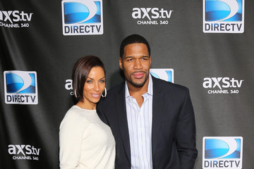Michael Strahan Nicole Murphy DIRECTV Super Saturday Night Featuring Special Guest Justin Timberlake & Co-Hosted By Mark Cuban's AXS TV