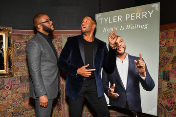 Michael Strahan Tyler Perry Launches His New Book 'Higher Is Waiting'