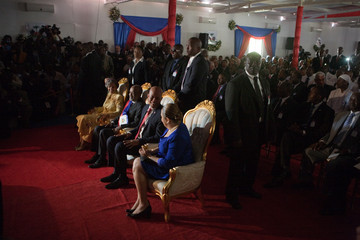 Rene Preval Michel Martelly Inaugurated As President Of Haiti