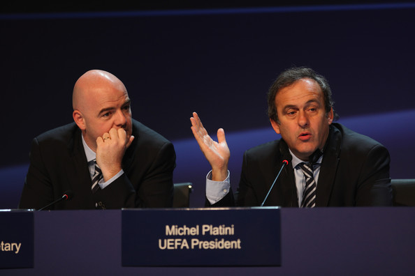 UEFA Congress Takes Place In Israel [spokesperson,event,speech,convention,public speaking,academic conference,conversation,orator,news conference,businessperson,michel platini,gianni infantino,r,uefa congress takes place,israel,tel aviv,uefa,xxxiv,uefa congress,press conference]