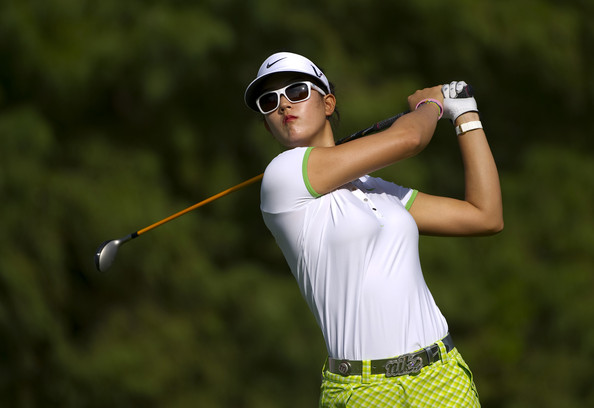 michelle wie bikini pic. Michelle Wie Michelle Wie makes a tee shot during ...