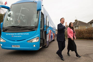 Michelle Donelan The Conservative Party Election Campaign Tour Bus Week One