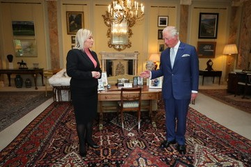 Michelle O'Neill The Prince Of Wales And Duchess Of Cornwall Visit Northern Ireland