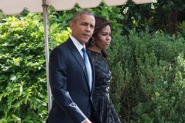 Michelle Obama President Obama And First Lady Depart White House En Route To Dallas