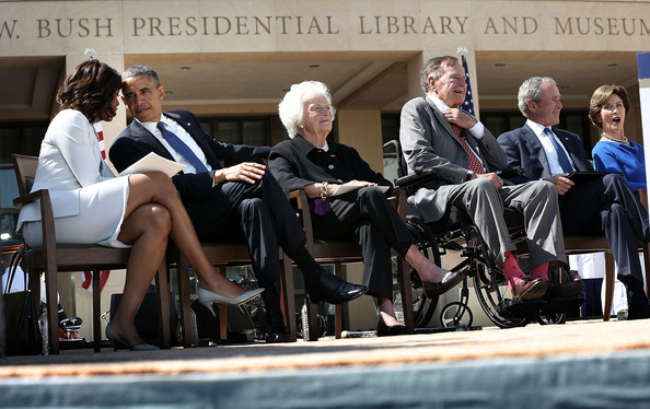07c5633301da9 Michelle Obama and Barbara Bush Photos Photos - George W. Bush ...