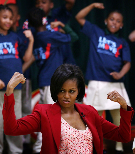 First Lady Promotes Youth Exercise With Olympians []