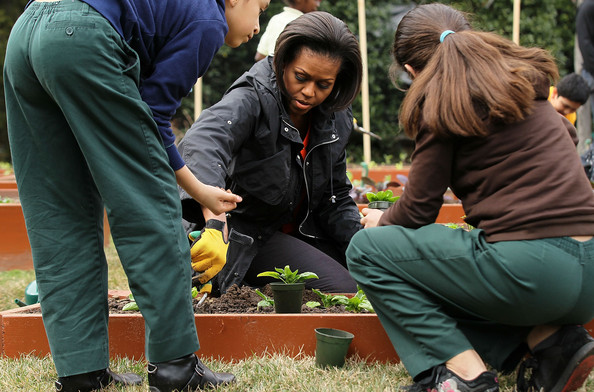 Michelle Obama Pictures Michelle Obama Helps Plant Third White House Kitchen Garden Zimbio
