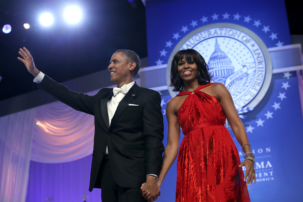 Michelle Obama - President Obama And First Lady Attend Inaugural Balls