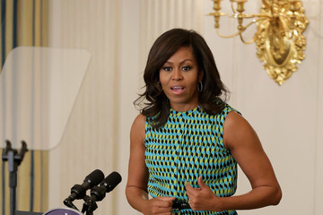 Michelle Obama Michelle Obama and Jill Biden Host Employment Event for Vets at White House
