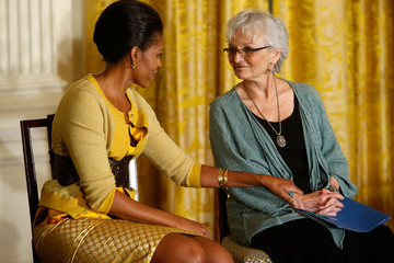 Fran Garfinkle Michelle Obama Speaks On Older Women And Health Insurance At White House