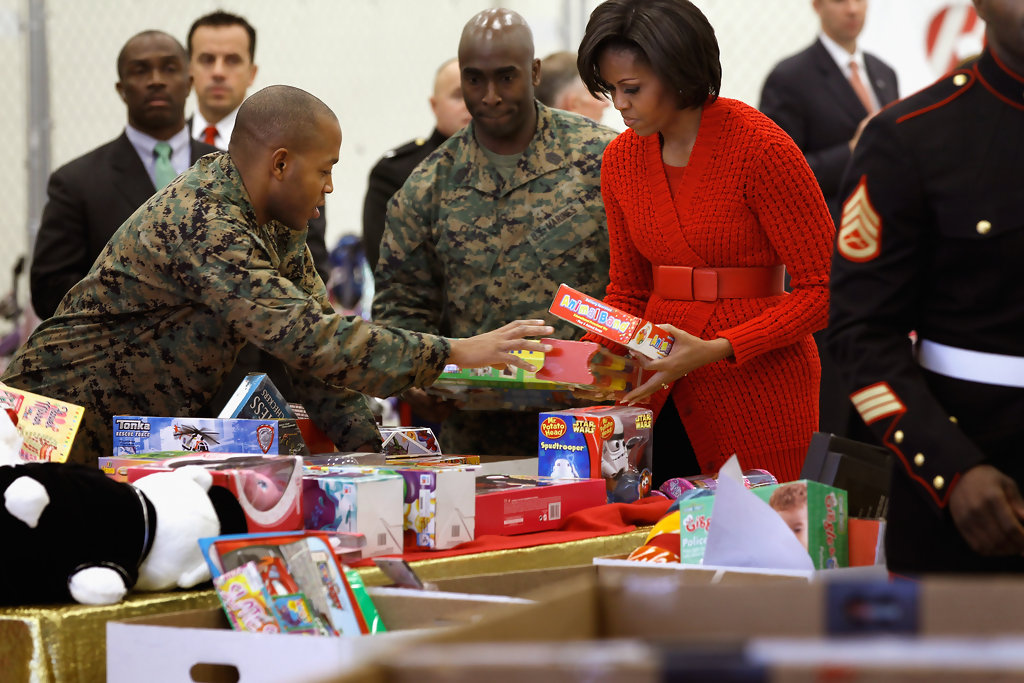 Toys For Tots Articles : Michelle obama photos visits a