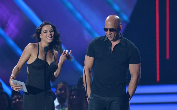 Michelle Rodriguez Michelle Rodriguez and Vin Dieselon stage at    Vin Diesel And Michelle Rodriguez Photoshoot