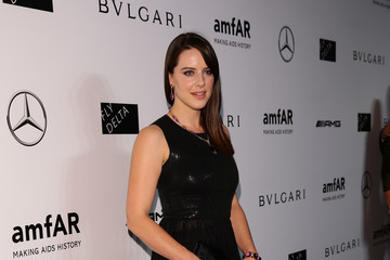 Michelle Ryan amfAR Milano 2014 - Arrivals - Milan Fashion Week Womenswear Spring/Summer 2015