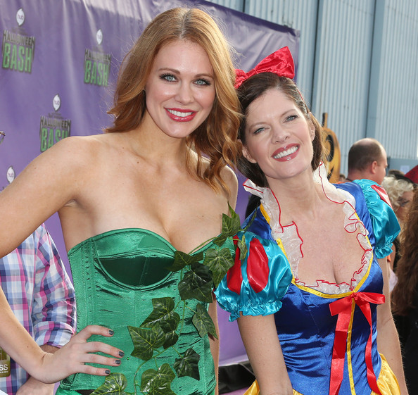 Hub Network's 1st Annual Halloween Bash — Part 3 [clothing,beauty,lady,blond,fashion,event,fun,dress,costume,smile,arrivals,actresses,maitland ward,michelle stafford,santa monica airport,barker hangar,hub network,l,1st annual halloween bash,first annual halloween bash]