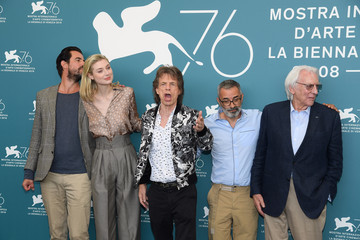 Mick Jagger Director Giuseppe Capotondi 'The Burnt Orange Heresy' Photocall - 76th Venice Film Festival - The 76th Venice Film Festival