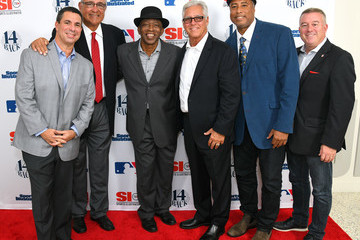 Mickey Rivers Steve Fortunato Sports Illustrated Hosts Screening Of '14 Back'