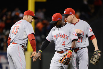 Miguel Cairo Division Series - Cincinnati Reds v San Francisco Giants - Game Two
