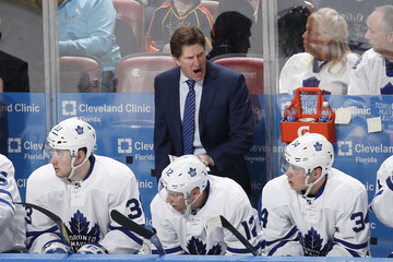 Mike Babcock Toronto Maple Leafs v Florida Panthers