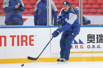 Mike Babcock 2017 Scotiabank NHL Centennial Classic - Toronto Maple Leafs Practice
