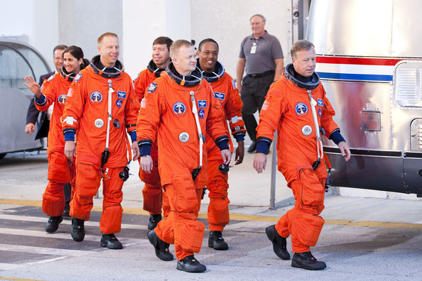 Space Shuttle Astronauts Take Part In Countdown Demonstration Test