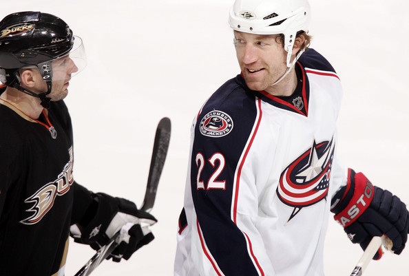 Mike Commodore - Columbus Blue Jackets v Anaheim Ducks