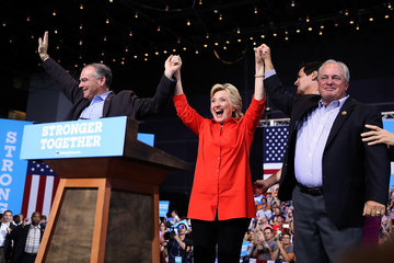 Mike Doyle Hillary Clinton and Tim Kaine Take Campaign Bus Tour Through Pennsylvania and Ohio