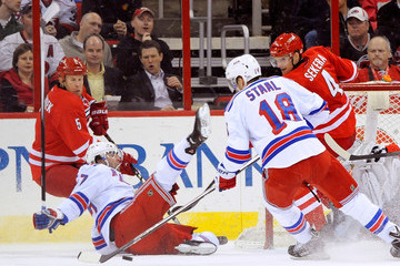 Mike Komisarek New York Rangers v Carolina Hurricanes
