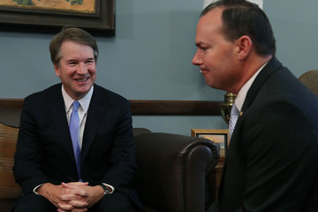 Mike Lee Supreme Court Nominee Judge Brett Kavanaugh Meets With Lawmakers On Capitol Hill