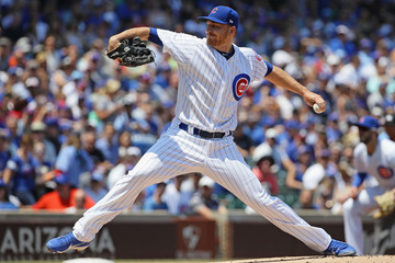 Mike Montgomery Milwaukee Brewers v Chicago Cubs