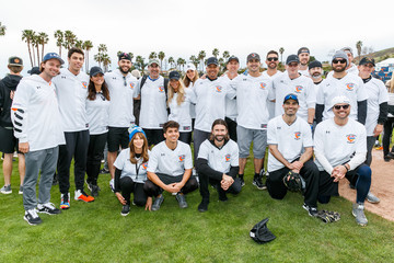 Mike Moustakas Celebrities Attend Charity Softball Game To Benefit California Strong