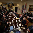 Mike Mullen Obama and Biden Meet With National Security Leaders at White House