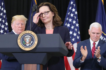 Mike Pence President Trump Takes Part In Swearing In Of CIA Director Gina Haspel
