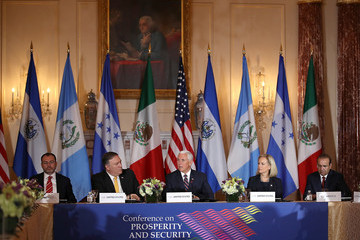 Mike Pompeo Pompeo, Pence, And Nielsen Hold Security Conference With Central American Leaders