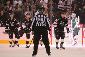 Mike Richards Jeff Carter Minnesota Wild v Los Angeles Kings