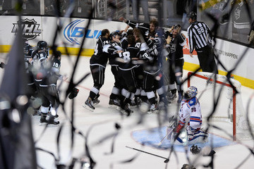 Mike Richards Jonathan Quick 2014 NHL Stanley Cup Final - Game Five