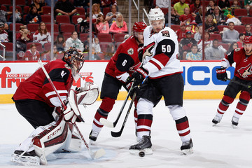 Mike Smith Antoine Vermette Arizona Coyotes Red and White Scrimmage