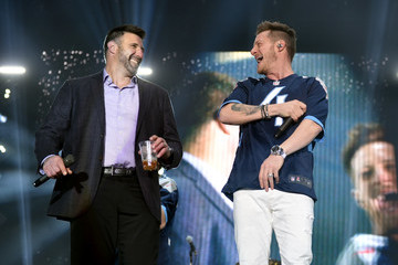 """Mike Vrabel Multi-Platinum Superstar Duo Florida Georgia Line And The NFL's Tennessee Titans Team Up For The """"Tradition Evolved"""" Concert Event In Downtown Nashville To Celebrate The Titans New 2018 Uniforms"""