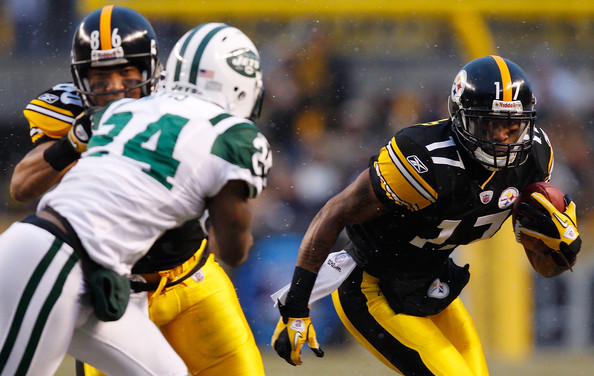 mike wallace pictures new york jets v pittsburgh