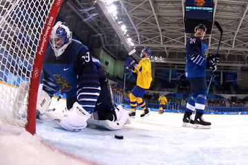 Mikko Koskinen Ice Hockey - Winter Olympics Day 9