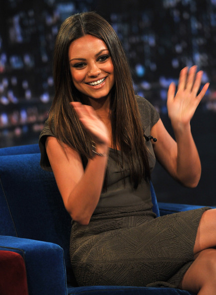 "Mila Kunis visits ""Late Night With Jimmy Fallon"" at Rockefeller Center on July 18, 2011 in New York City."