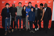 "(L-R) Ewan McGregor, Keith Stanfield, Daniel Wagner, Pamela Hirsch, Co-President and co-founder of Sony Pictures Classics Tom Bernard, Lenore Zerman, Don Cheadle, Emayatzy Corinealdi, Vince Willburn, Jr. attend the ""Miles Ahead"" Premiere during the 2016 Sundance Film Festival at The Marc Theatre on January 22, 2016 in Park City, Utah."