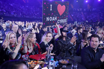 Miley Cyrus Billy Ray Cyrus iHeartRadio Music Awards - Show