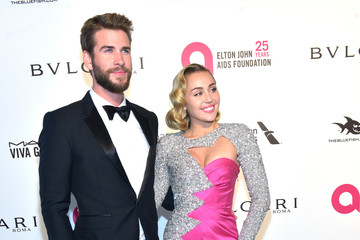 Miley Cyrus Liam Hemsworth 26th Annual Elton John AIDS Foundation's Academy Awards Viewing Party - Arrivals