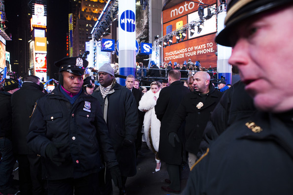 Revelers Celebrate New Year's Eve in NYC