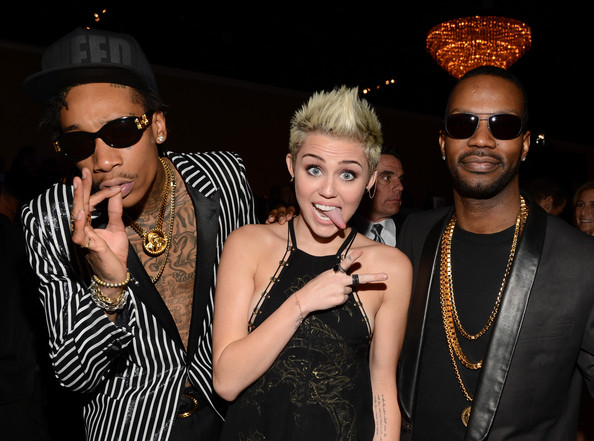 Miley Cyrus and Wiz Khalifa Photos»Photostream · Pictures · The 55th Annual  GRAMMY Awards - Pre-GRAMMY Gala And Salute To Industry Icons Honoring 4f5df9307