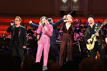 Miley Cyrus The ONE Campaign and (RED) Mark World AIDS Day and Celebrate 10 Years of Progress with a Concert at Carnegie Hall in New York