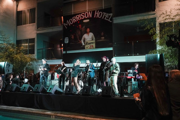 """Miley Cyrus John Varvatos And Timothy White Host The 50th Anniversary Celebration of The Doors' """"Morrison Hotel"""" Album At The Sunset Marquis"""