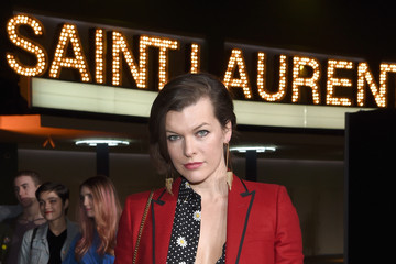 Milla Jovovich SAINT LAURENT at the Palladium - Red Carpet