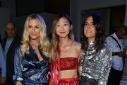 Morgan Stewart, Emily Men and Samantha Crompton attend the Milly by Michelle Smith front row during New York Fashion Week: The Shows at Gallery II at Spring Studios on September 7, 2018 in New York City.
