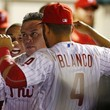 Andres Blanco and Ben Revere Photos